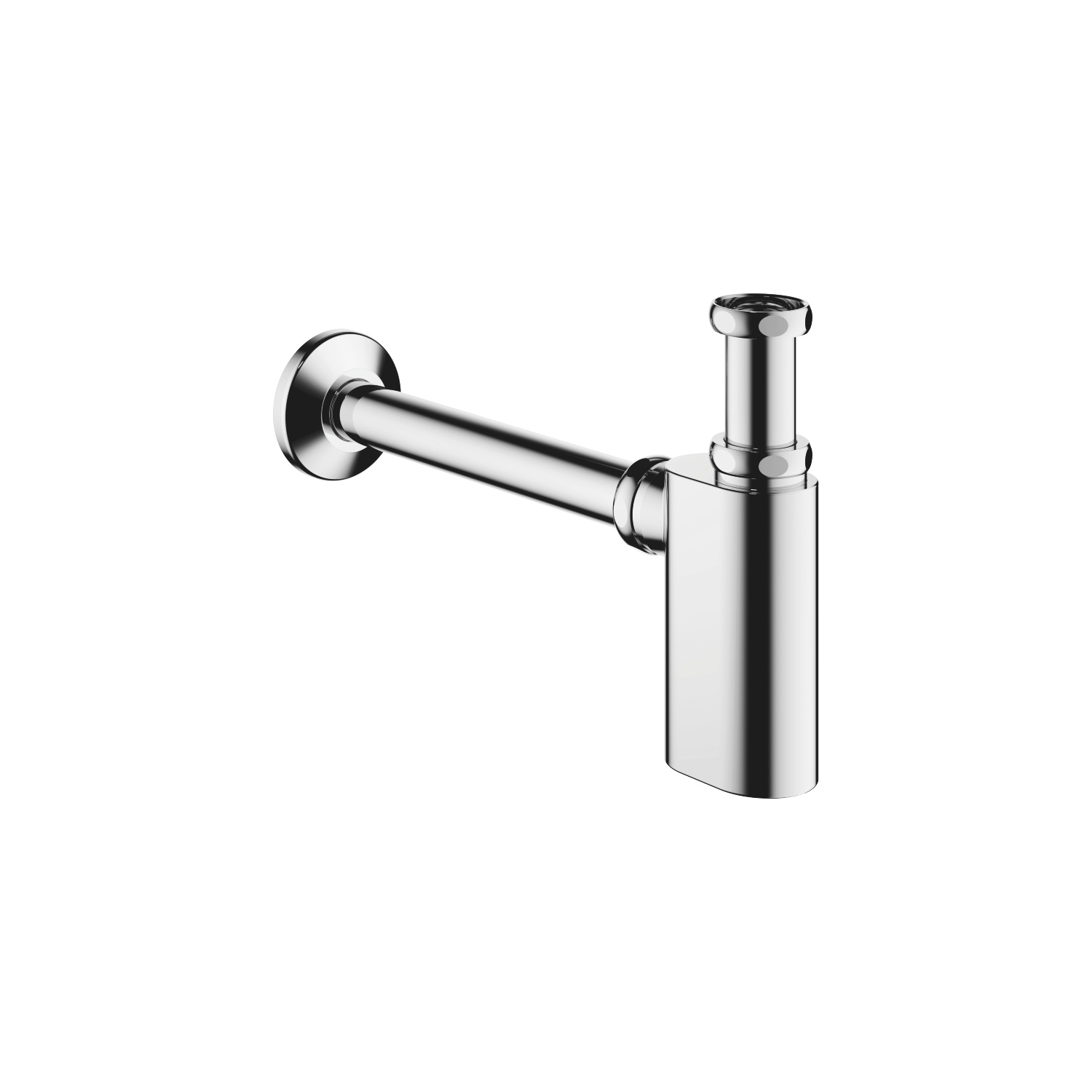 "Siphon for basin 1 1/4"" - polished chrome"