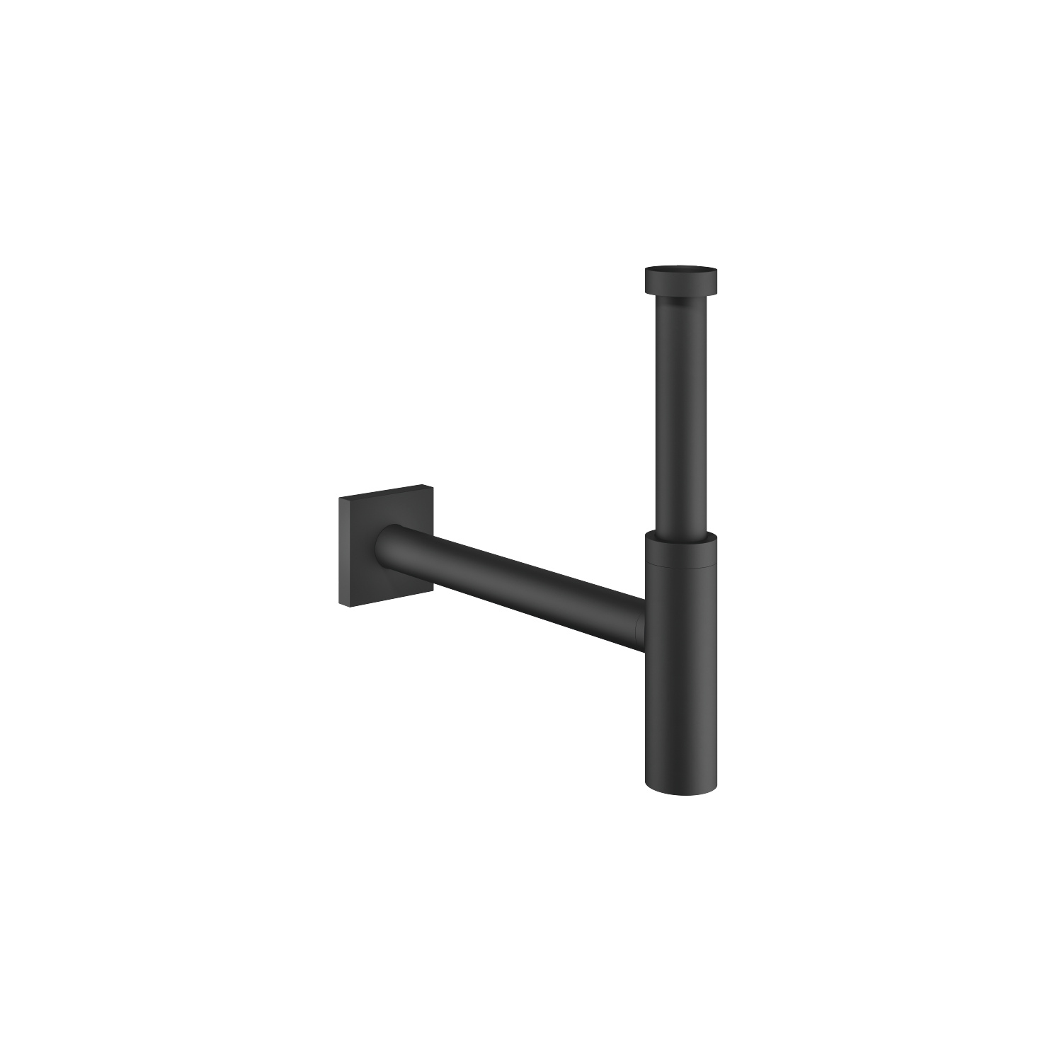"Siphon for basin 1 1/4"" - matt black"