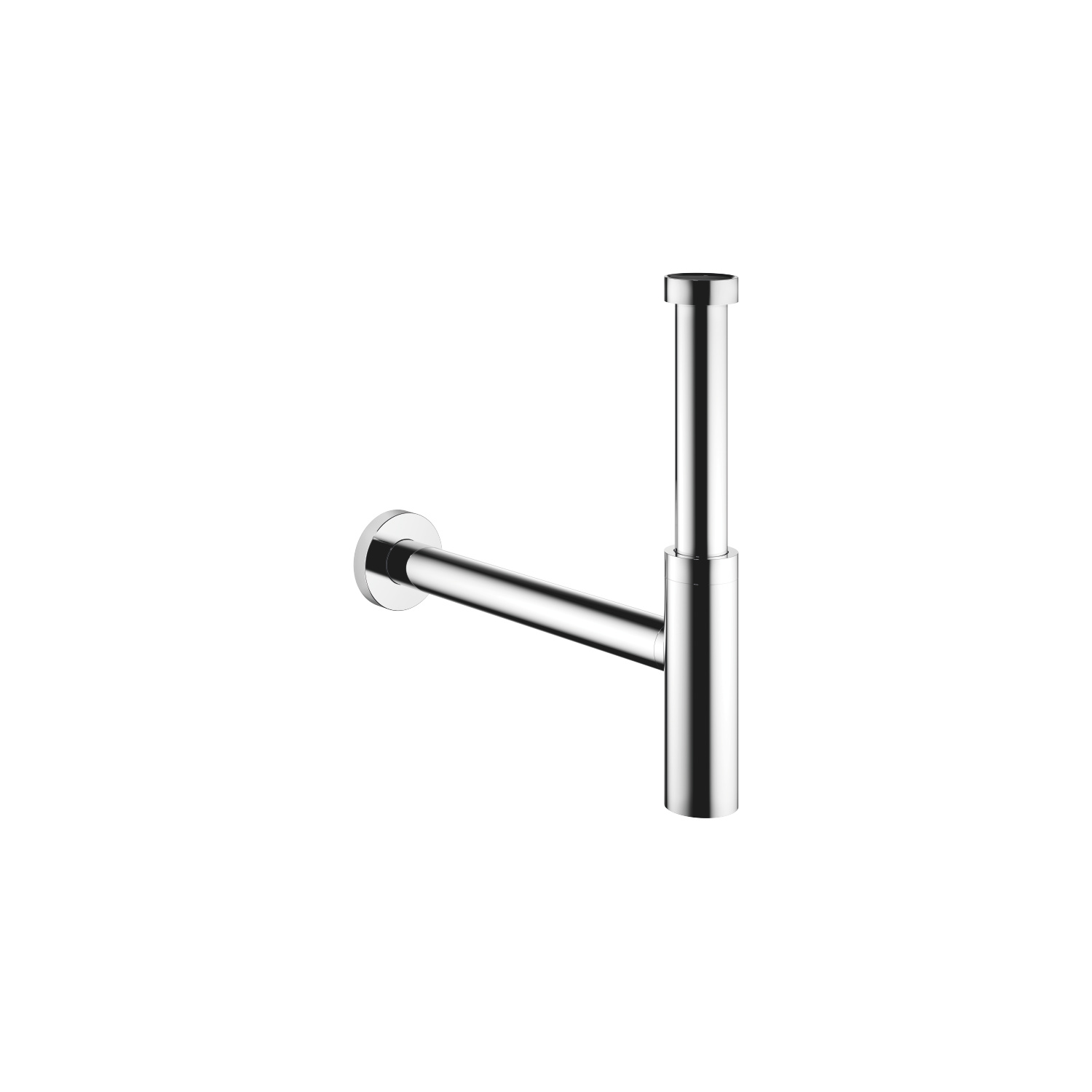 Lavatory siphon - polished chrome