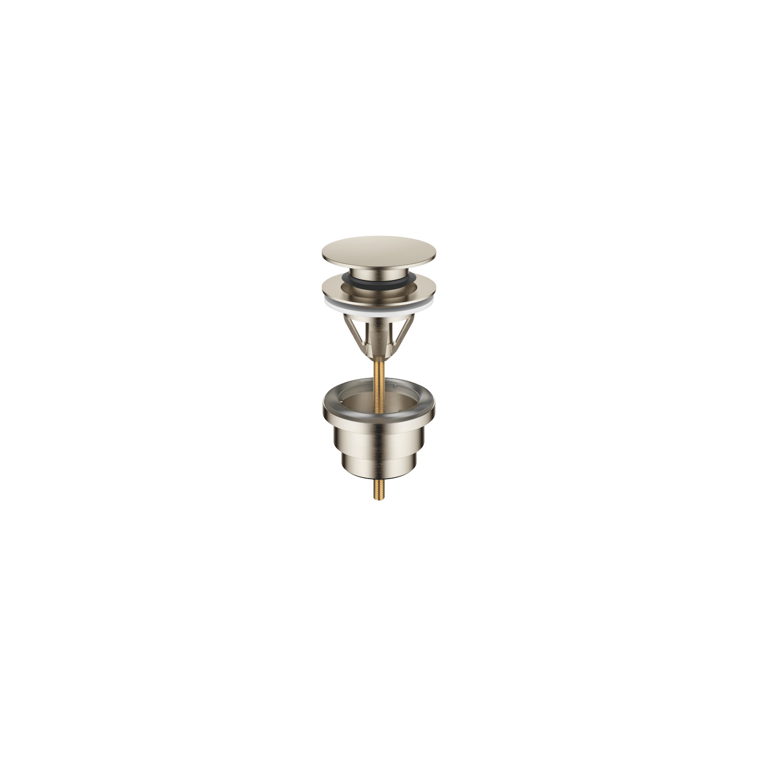"Basin Waste with push fastening 1 1/4"" - platinum matt"