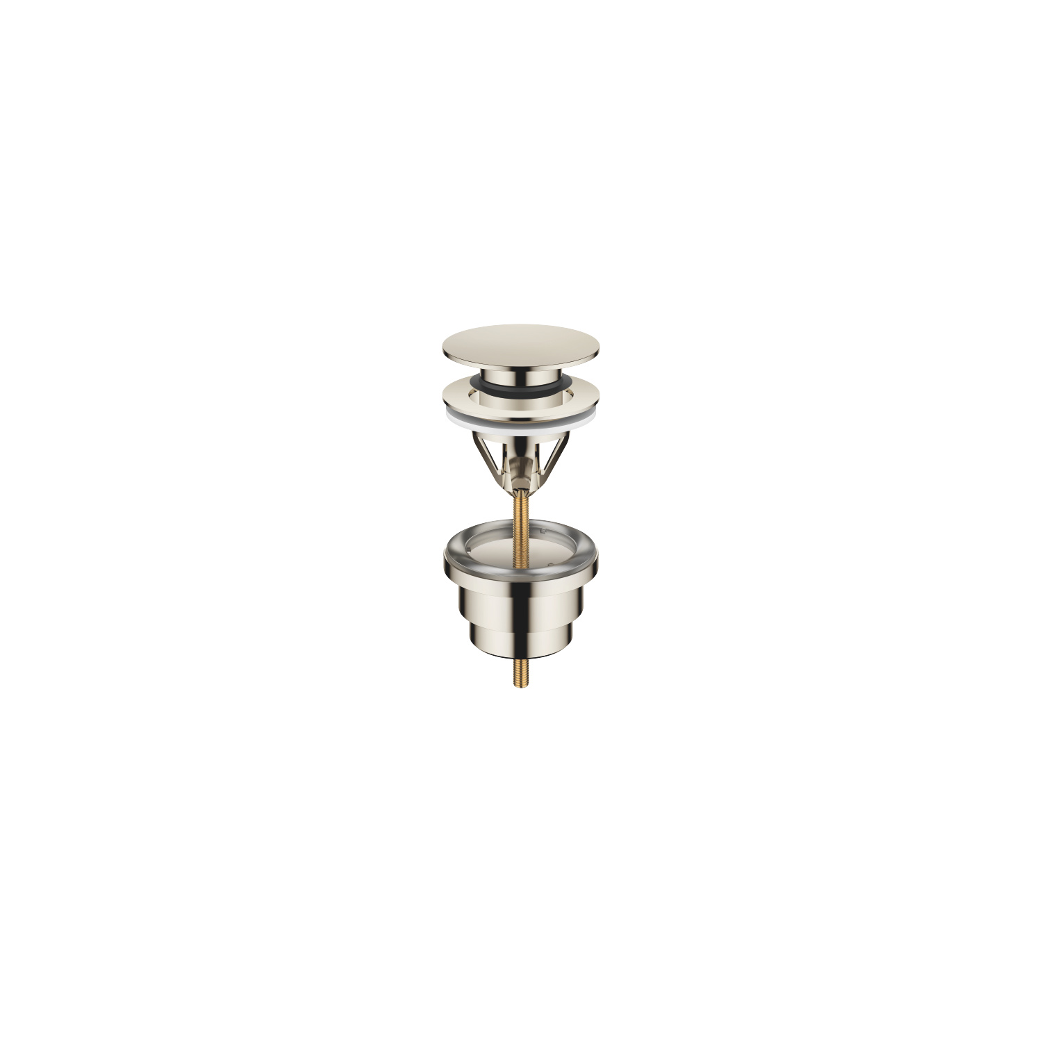 "Basin Waste with push fastening 1 1/4"" - platinum"