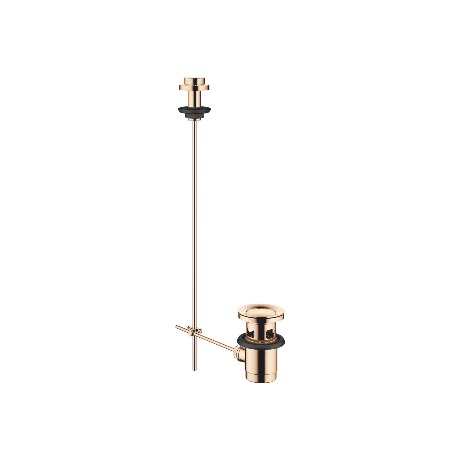 "Basin Waste with knob for deck mounting 1 1/4"" - Champagne"