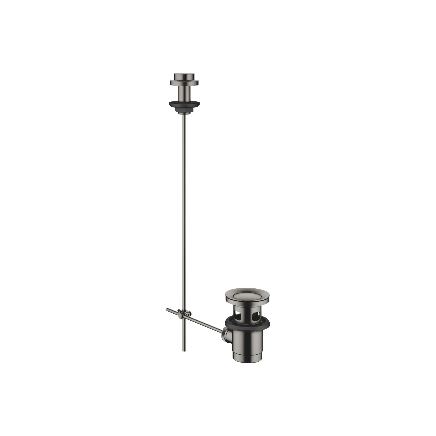 "Basin Waste with knob for deck mounting 1 1/4"" - Dark Platinum matt"