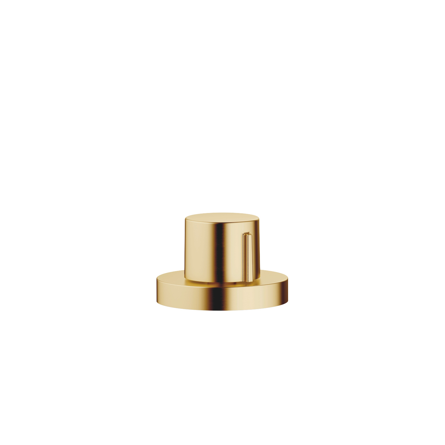 Strainer waste with control handle - brushed Durabrass