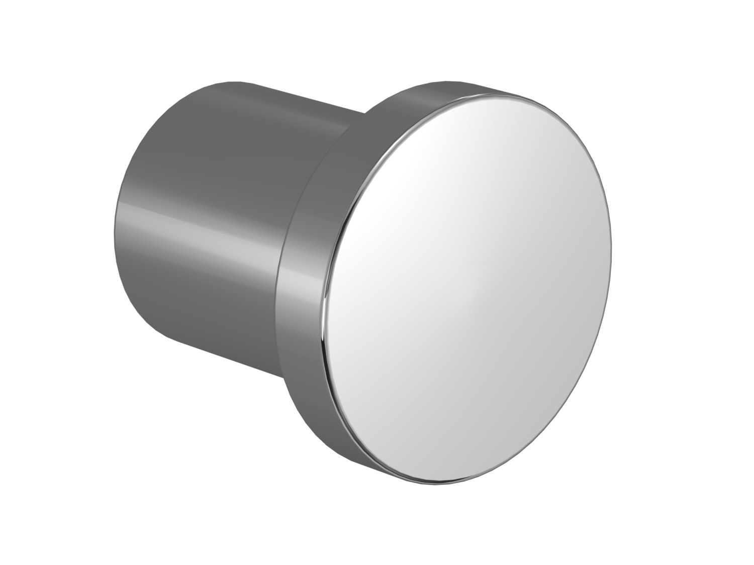 Door handle - polished chrome