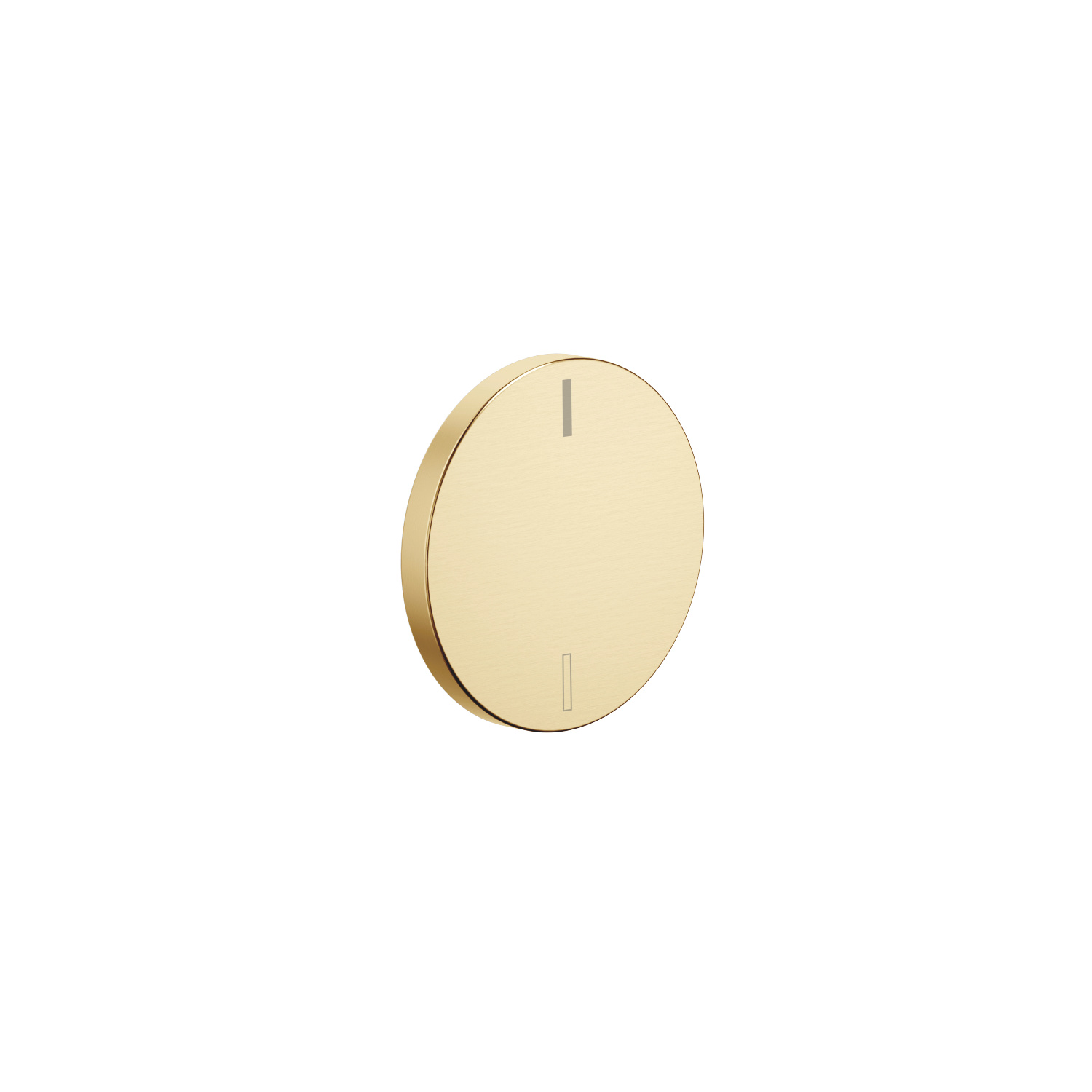 Handle insert hot & cold - brushed Durabrass
