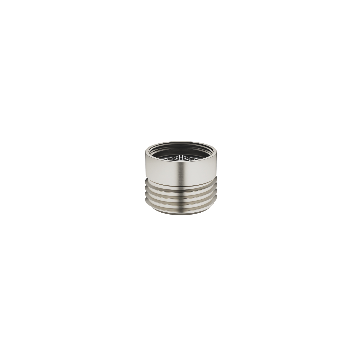 "Adapter for shower outlet 3/8"" x 1/2"" - platinum matt"