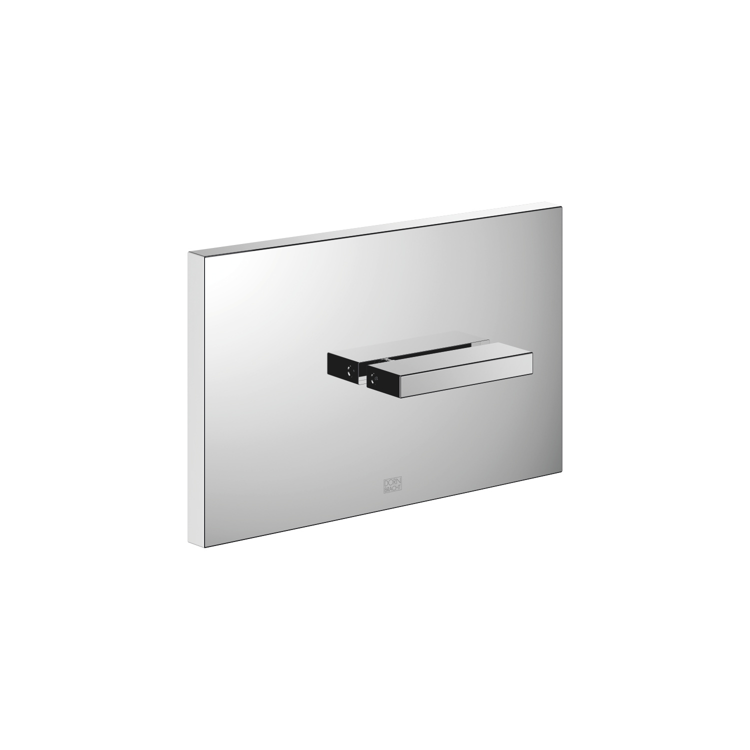 Cover plate for the concealed WC cistern made by TeCe - polished chrome