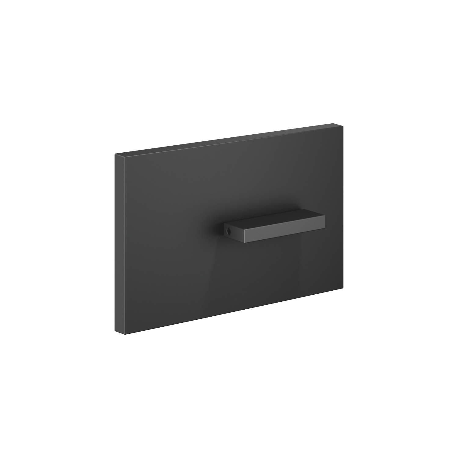 Cover plate for the concealed WC cistern made by TeCe - matt black