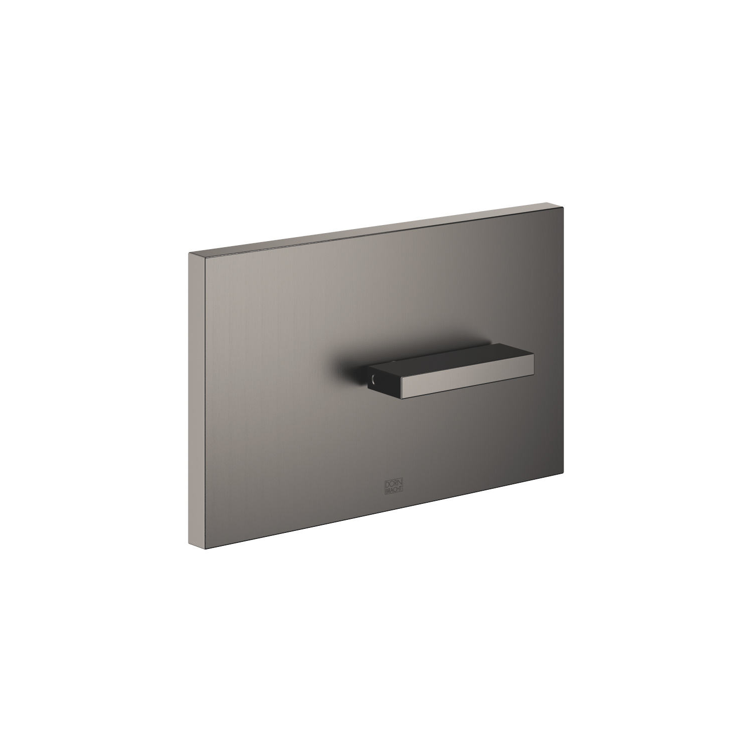 Cover plate for the concealed WC cistern made by TeCe - Dark Platinum matt