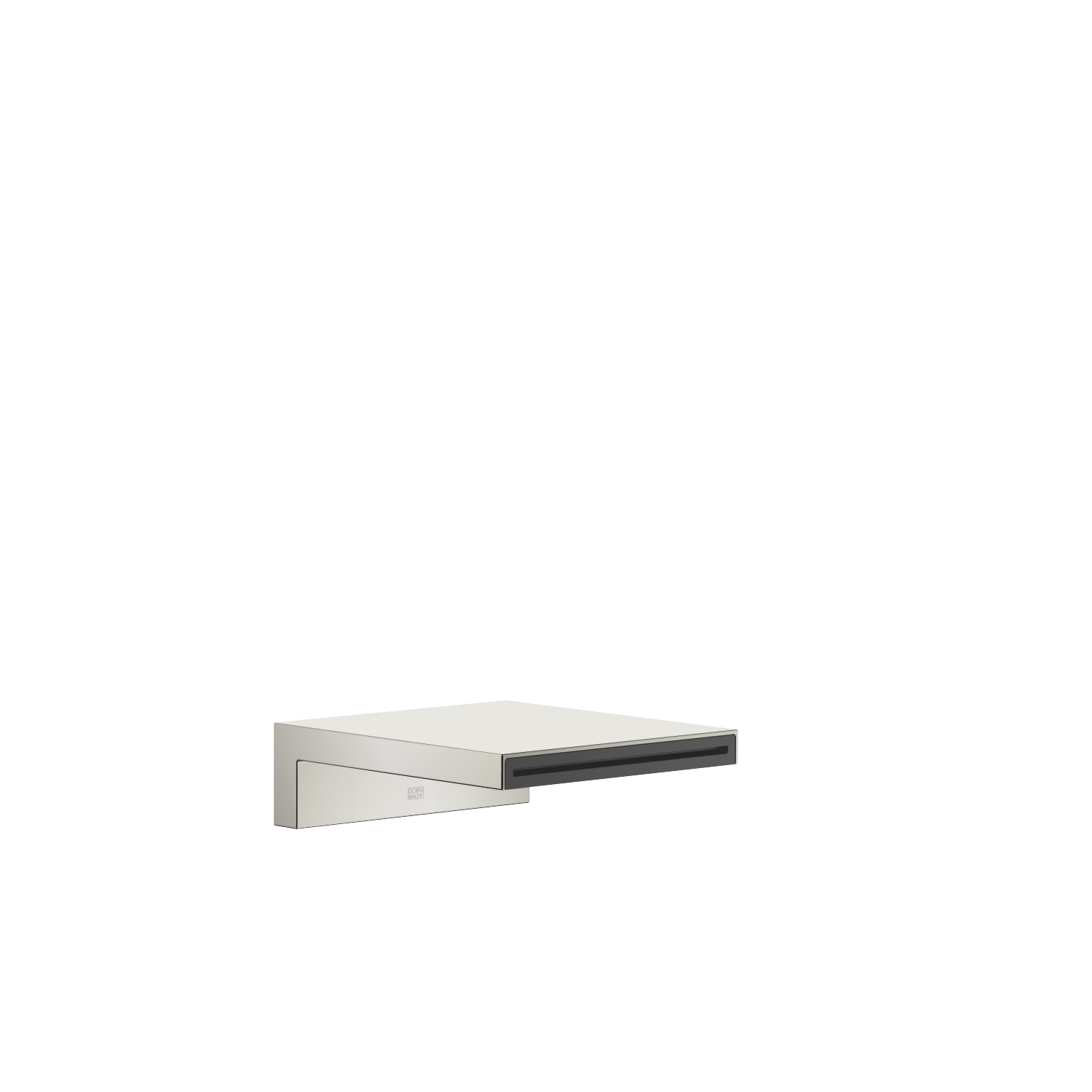 Bath cascade spout for wall mounting - platinum matt