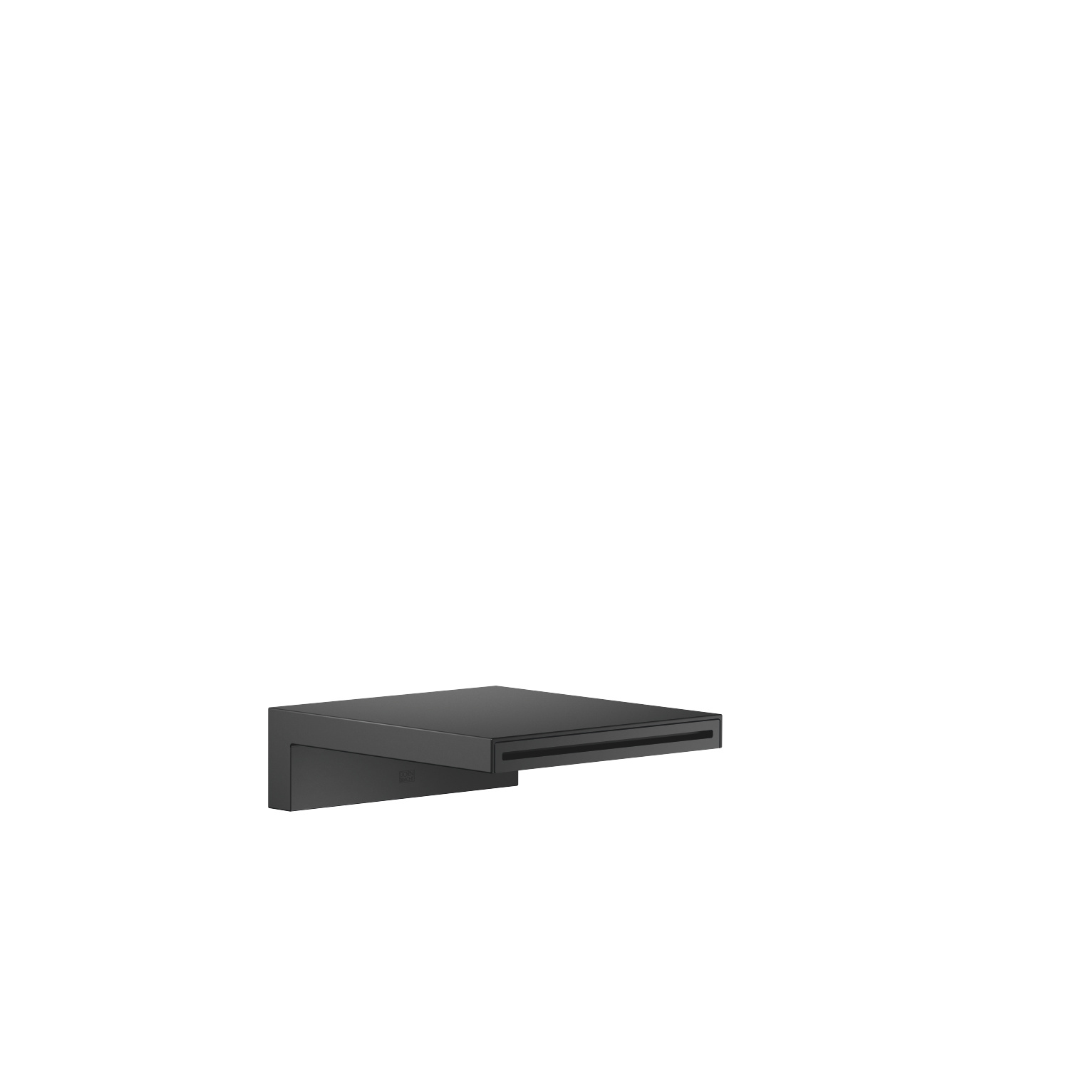 Bath cascade spout for wall mounting - matt black