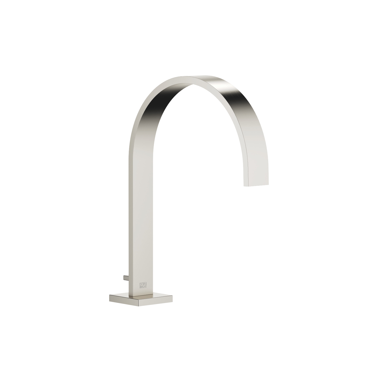 Tub spout with diverter for deck-mounted installation - platinum matte