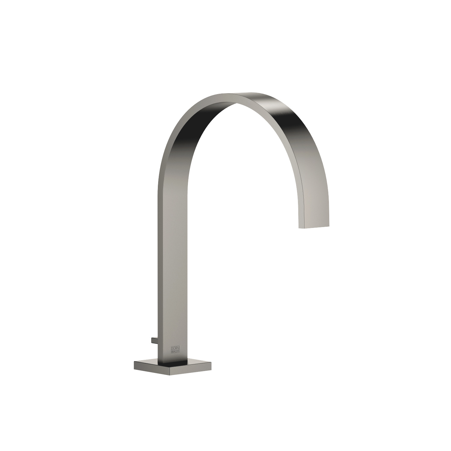 bath spout with diverter for deck mounting - Dark Platinum matt