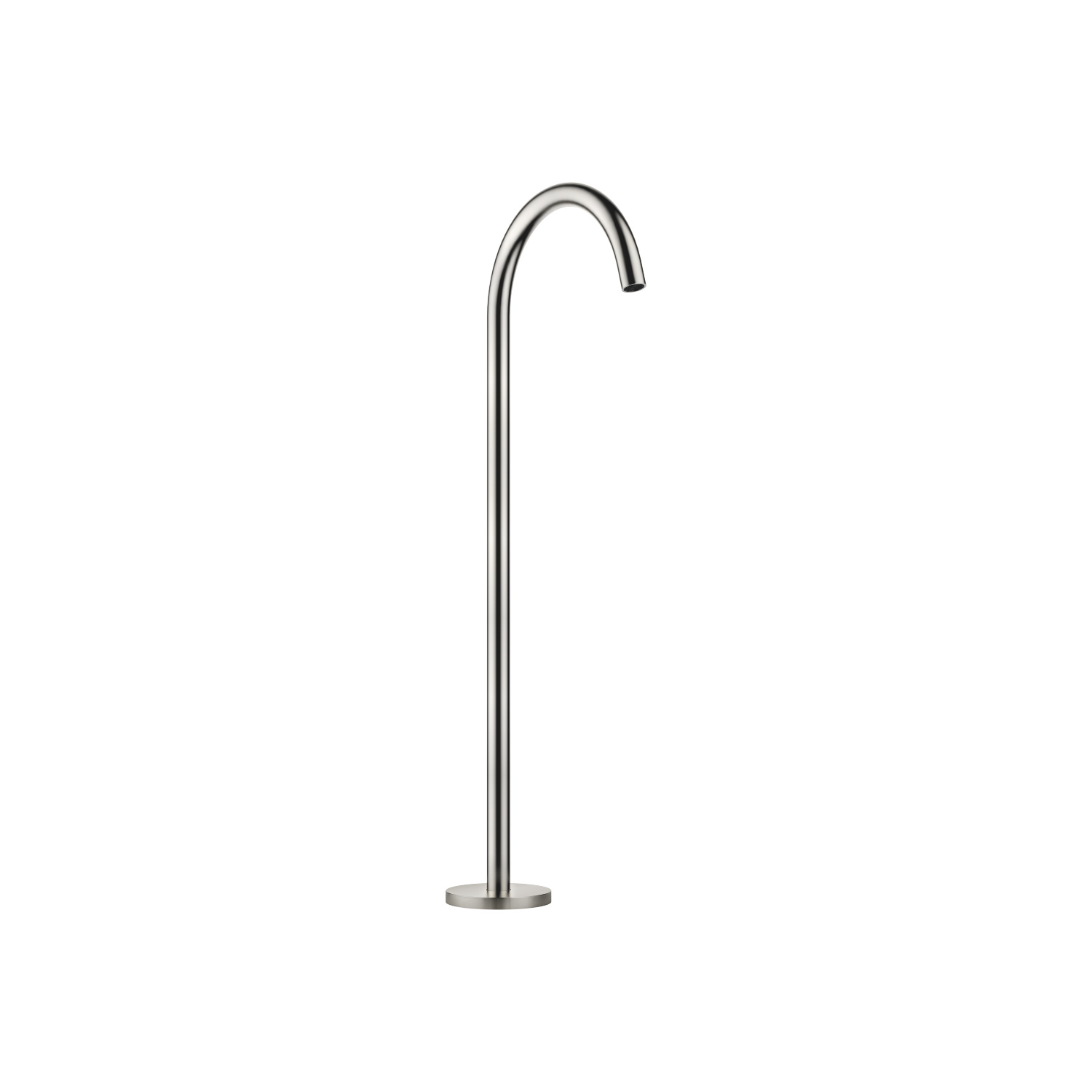 bath spout without diverter for free-standing assembly - platinum matt