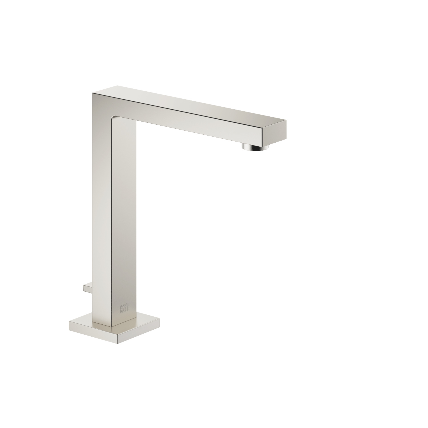 Deck-mounted basin spout with pop-up waste - platinum matt
