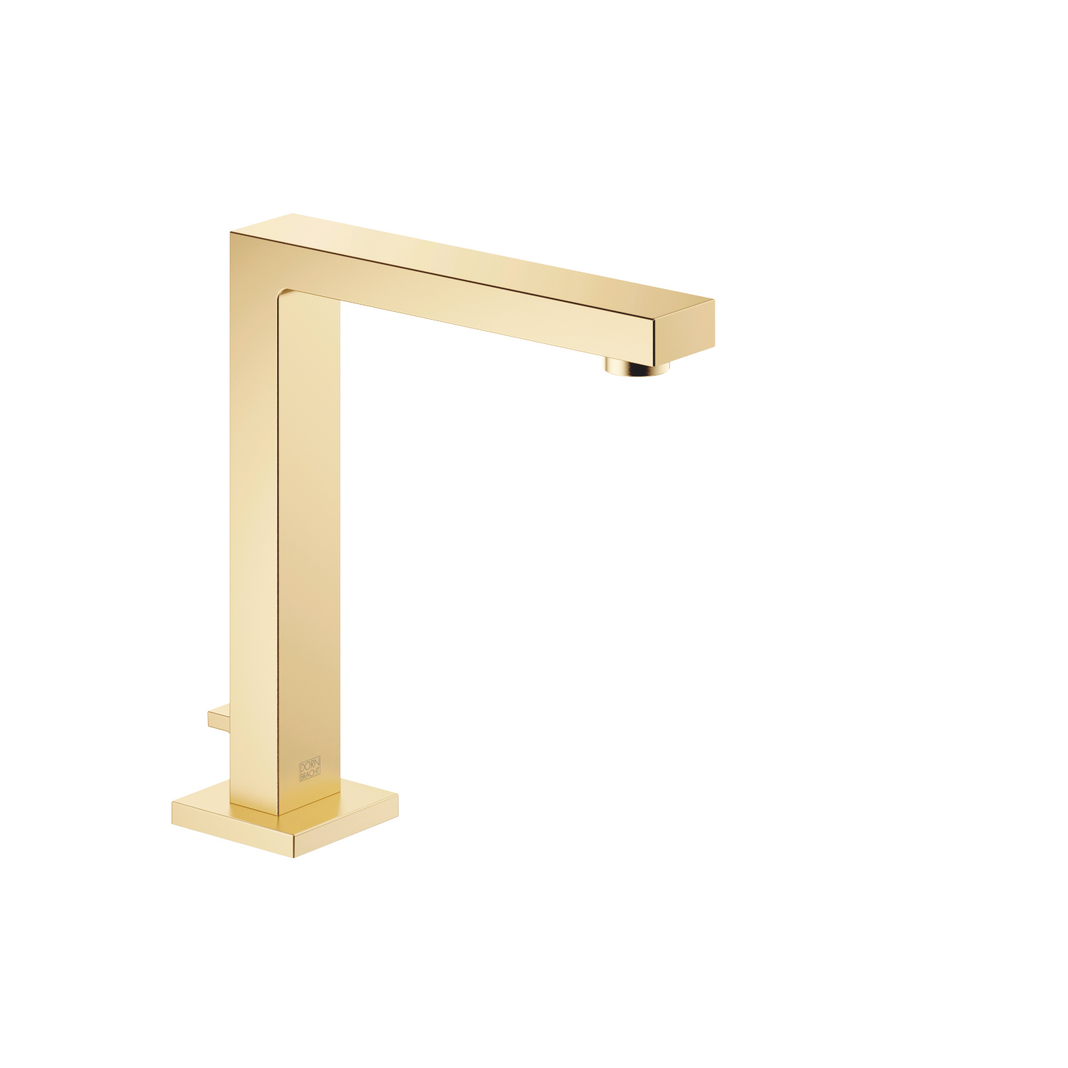 Deck-mounted basin spout with pop-up waste - brushed Durabrass