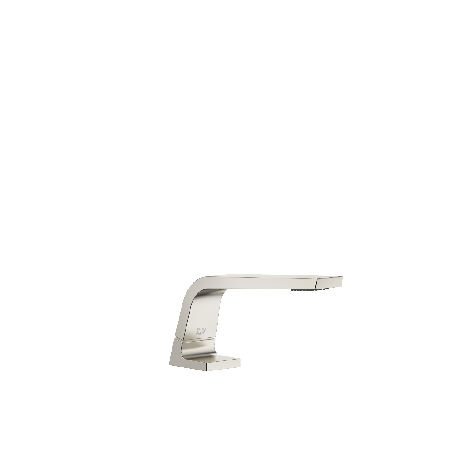 Deck-mounted basin spout without pop-up waste - platinum matt
