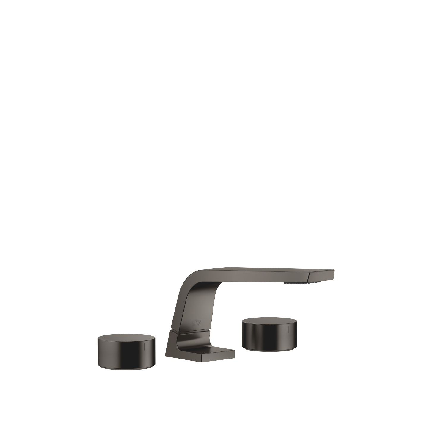 Three-hole lavatory mixer without drain - Dark Platinum matte
