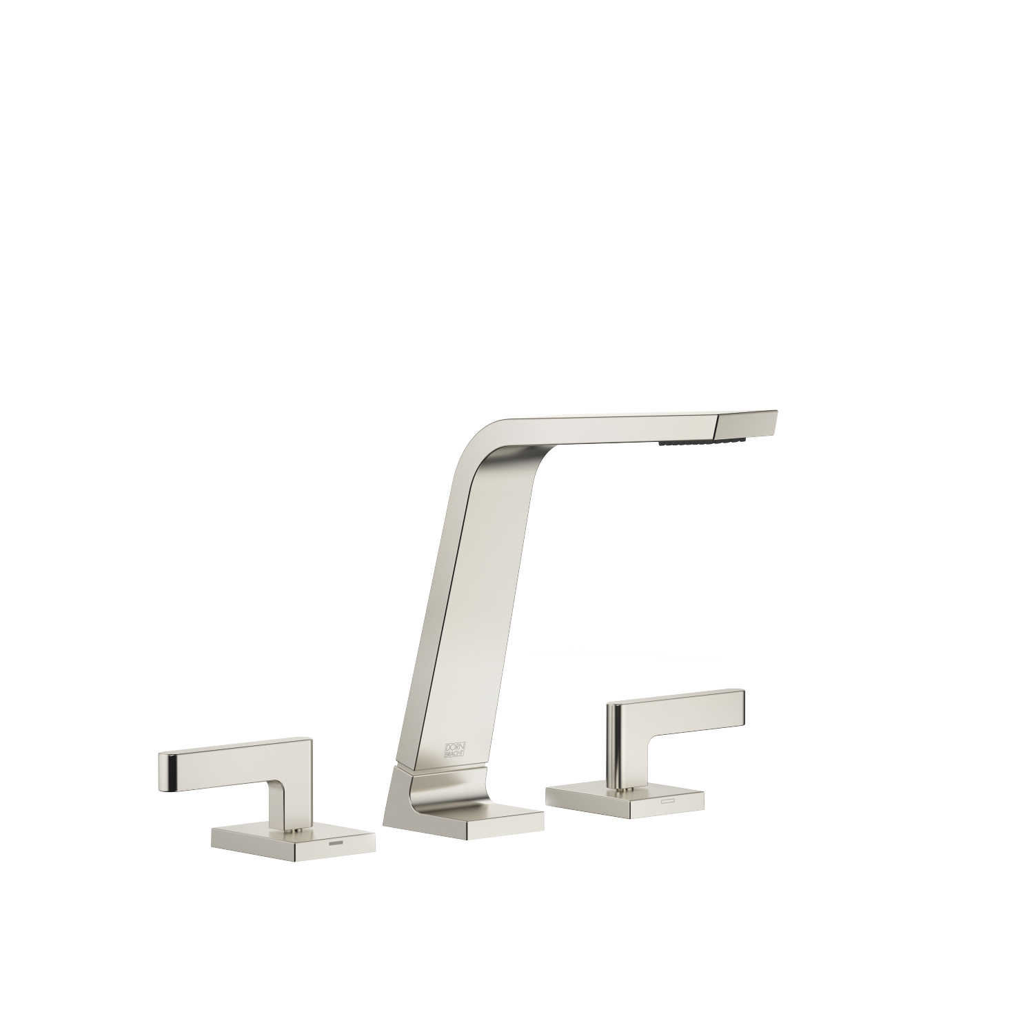 Three-hole basin mixer without pop-up waste - platinum matt - 13 715 705-06 + 20 004 715-06 + 20 004 716-06