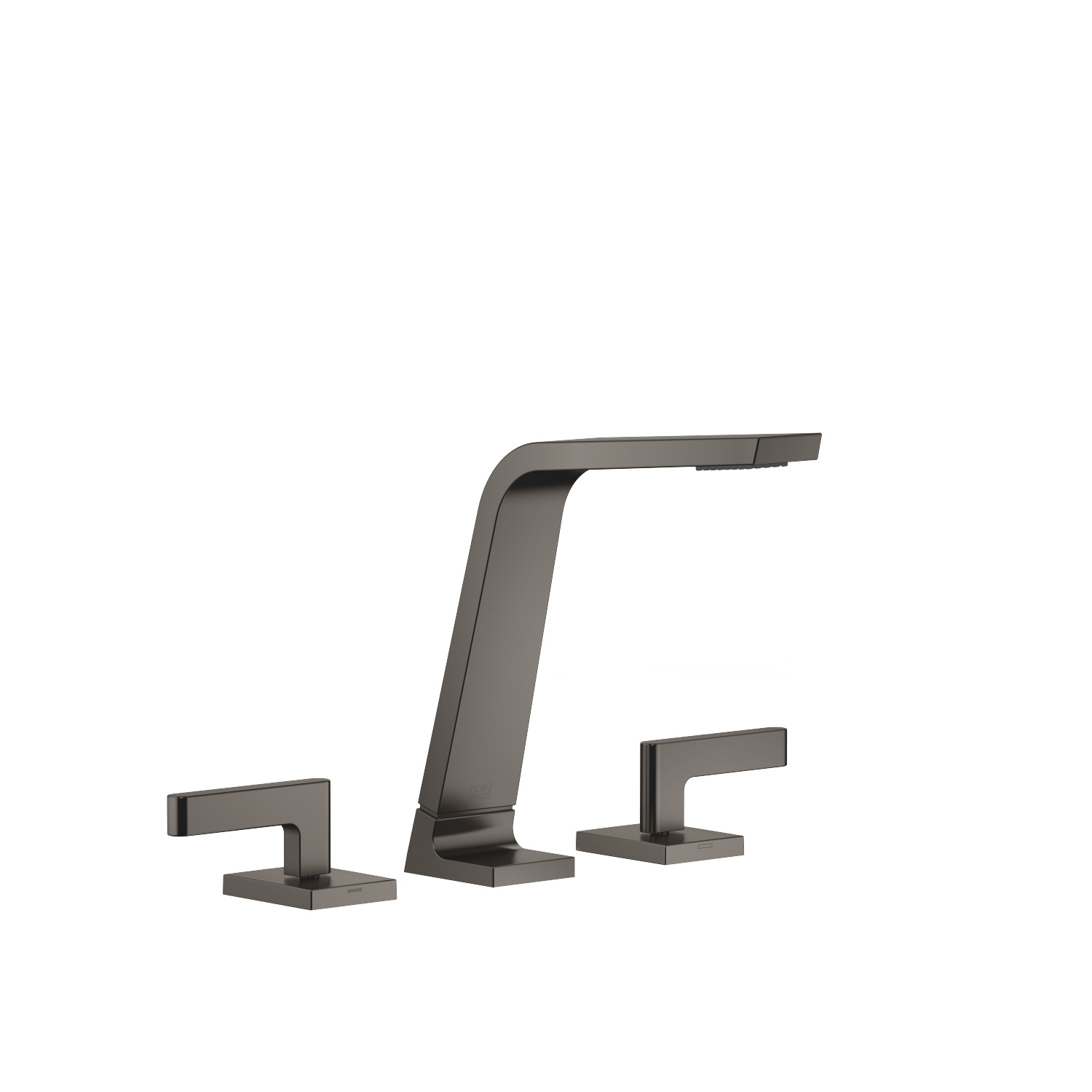 Three-hole basin mixer without pop-up waste - Dark Platinum matt