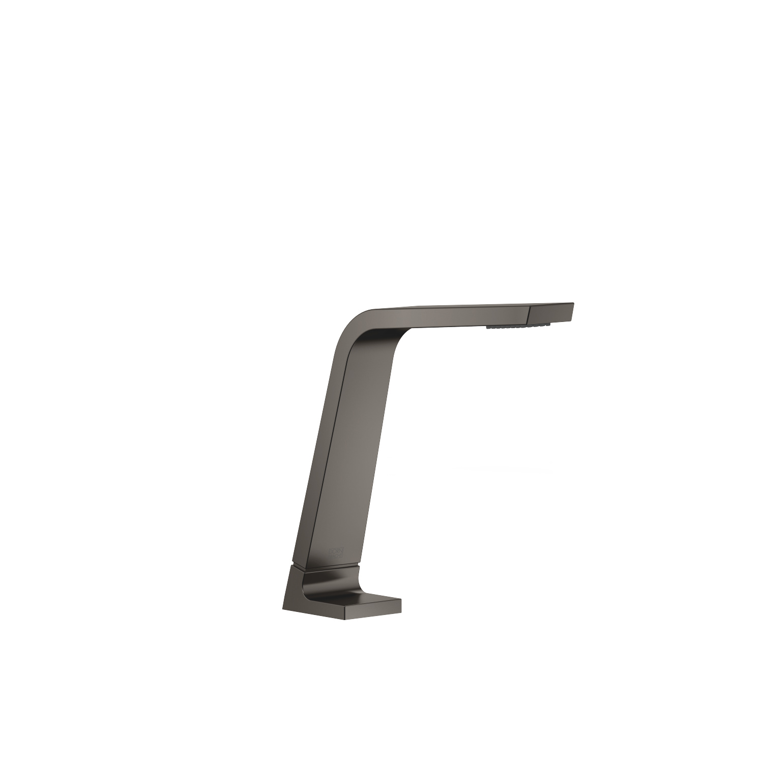 Deck-mounted basin spout without pop-up waste - Dark Platinum matt