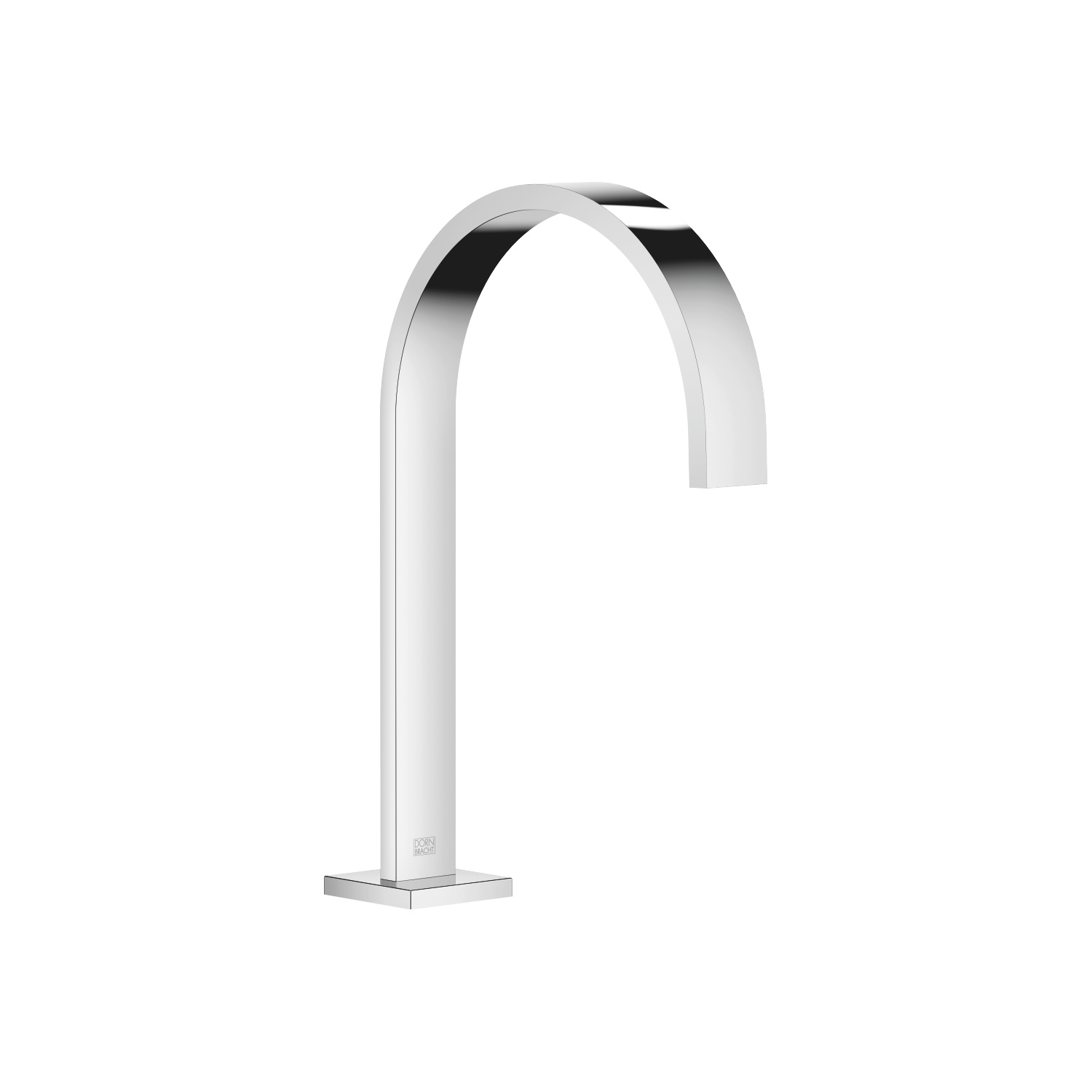 Deck-mounted basin spout with pop-up waste - polished chrome