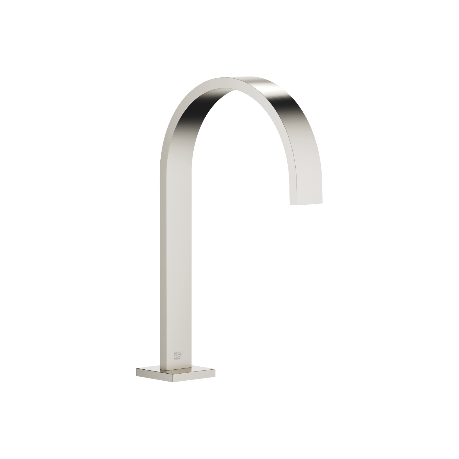 Deck-mounted basin spout with pop-up waste - platinum matt - 13 715 782-06