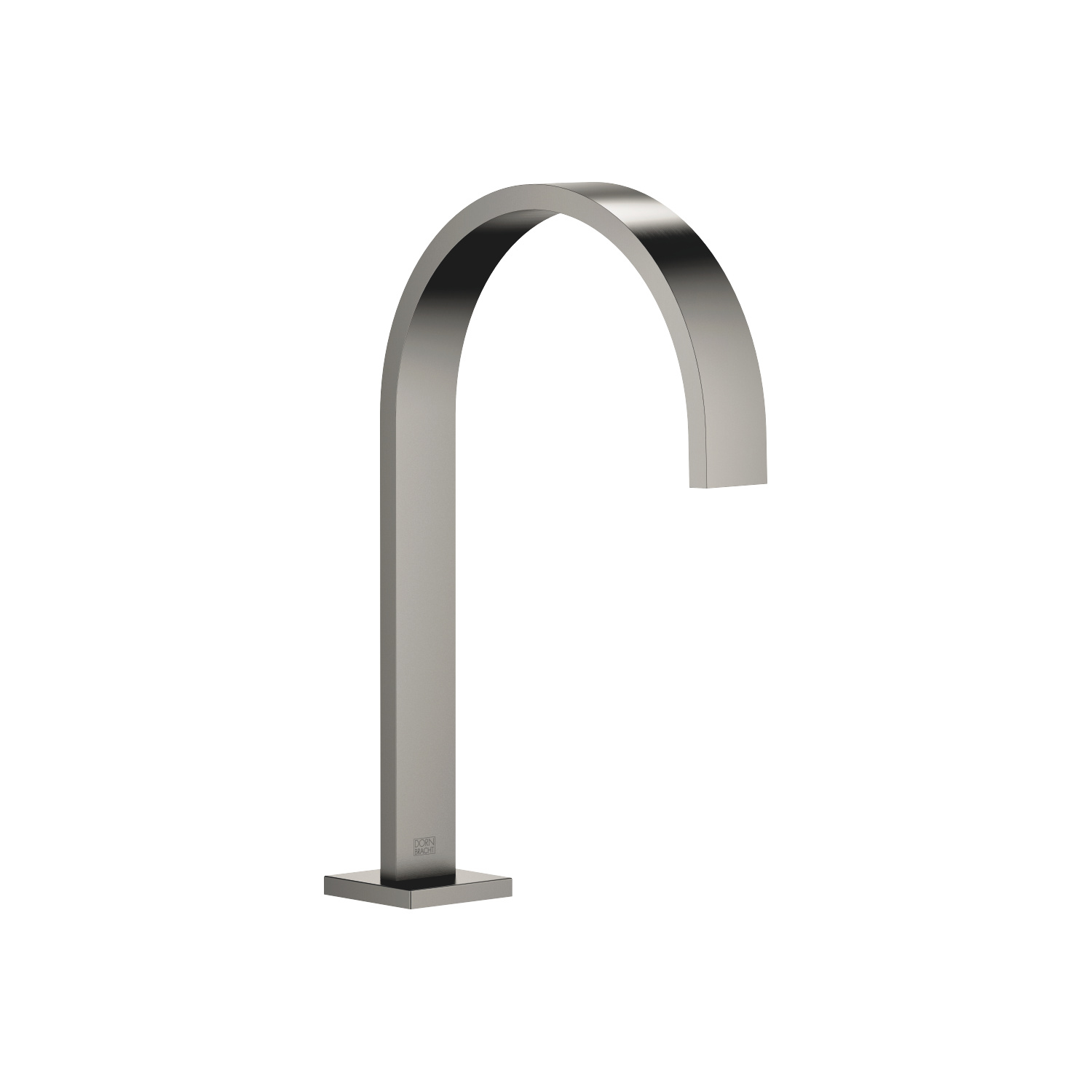 Deck-mounted basin spout with pop-up waste - Dark Platinum matt