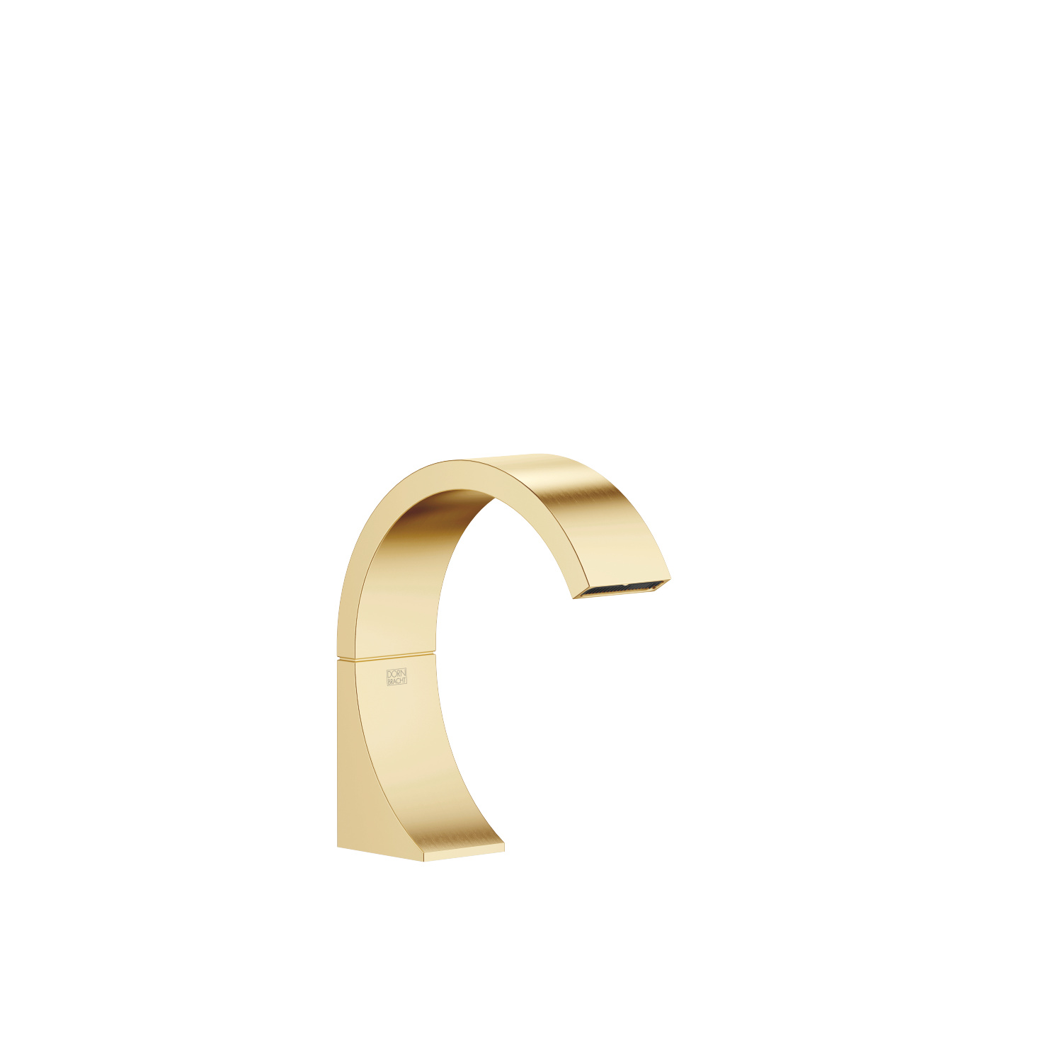 Deck-mounted basin spout without pop-up waste - brushed Durabrass