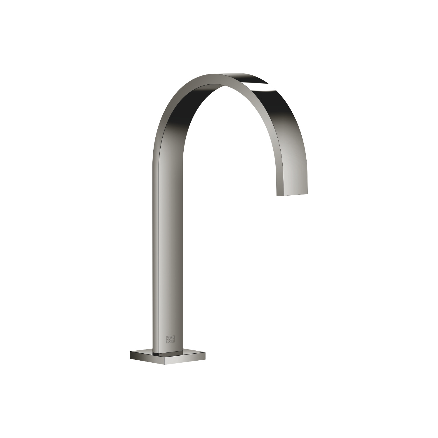 Deck-mounted basin spout without pop-up waste - platinum