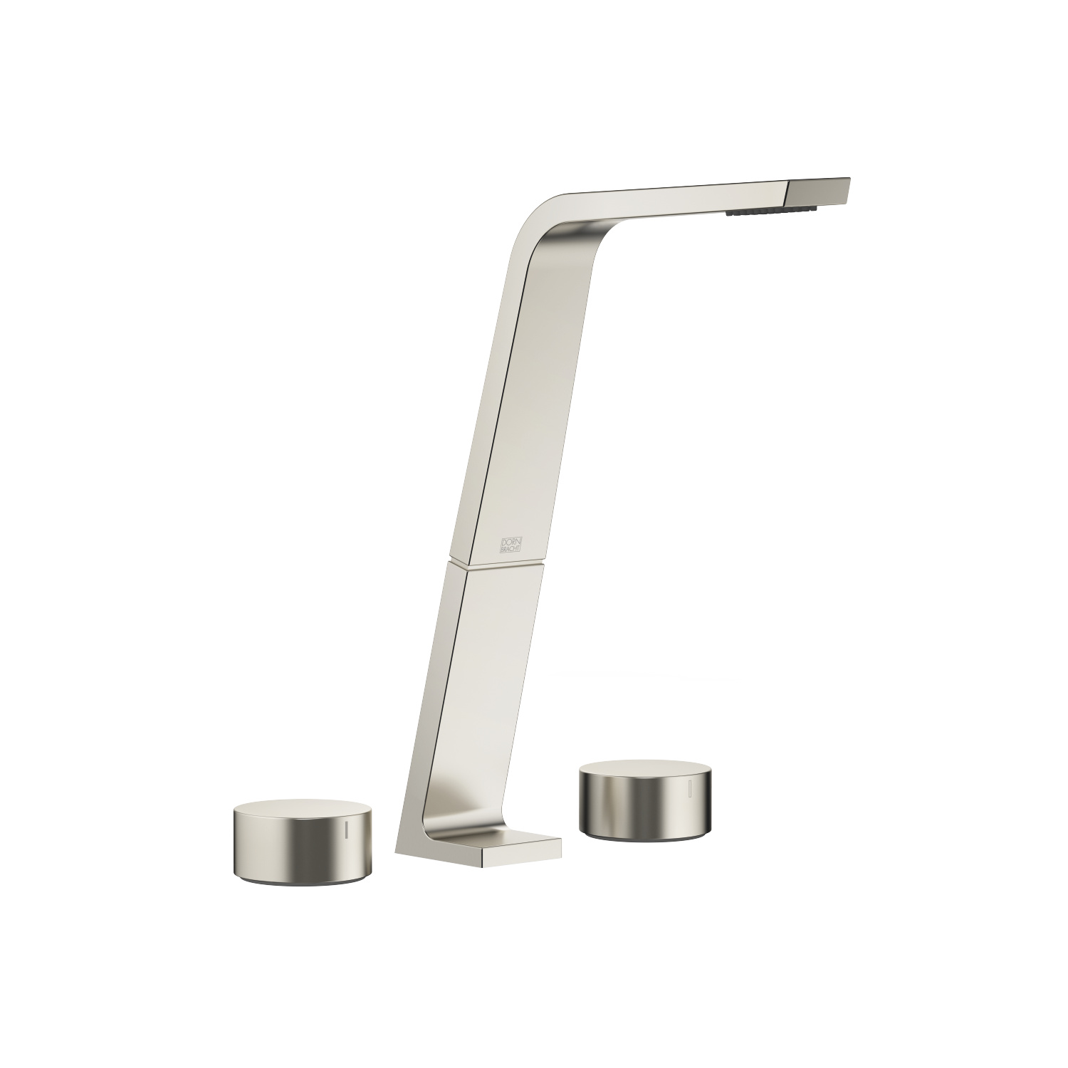 Three-hole lavatory mixer without drain - platinum matte - 13 717 705-06 + 20 000 740-06 + 20 000 741-06