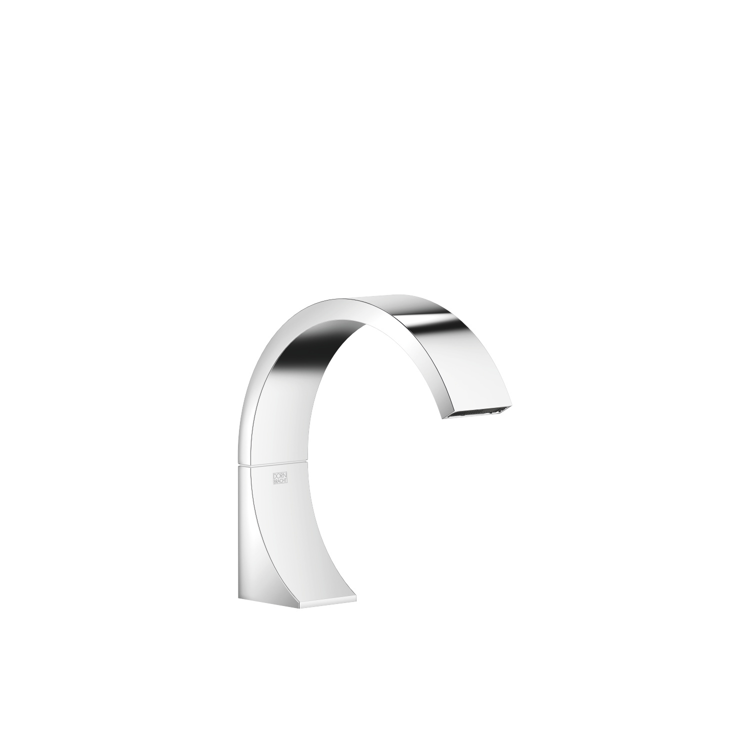 Deck-mounted basin spout without pop-up waste - polished chrome