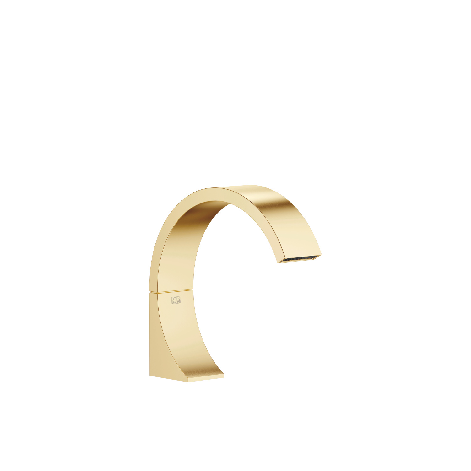 eSET Touchfree Basin mixer without pop-up waste with temperature setting - brushed Durabrass
