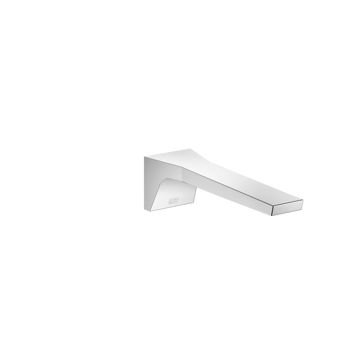 Lavatory spout, wall-mounted without drain - polished chrome