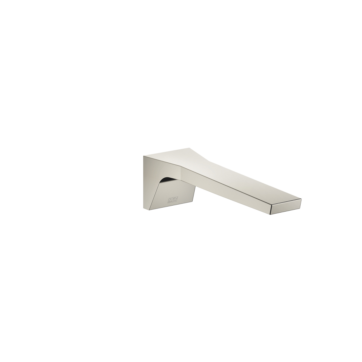 Wall-mounted basin spout without pop-up waste - platinum matt