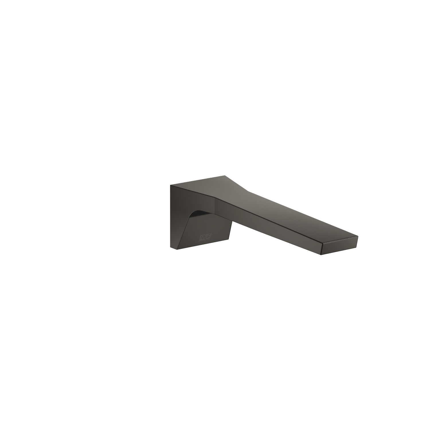 Wall-mounted basin spout without pop-up waste - Dark Platinum matt