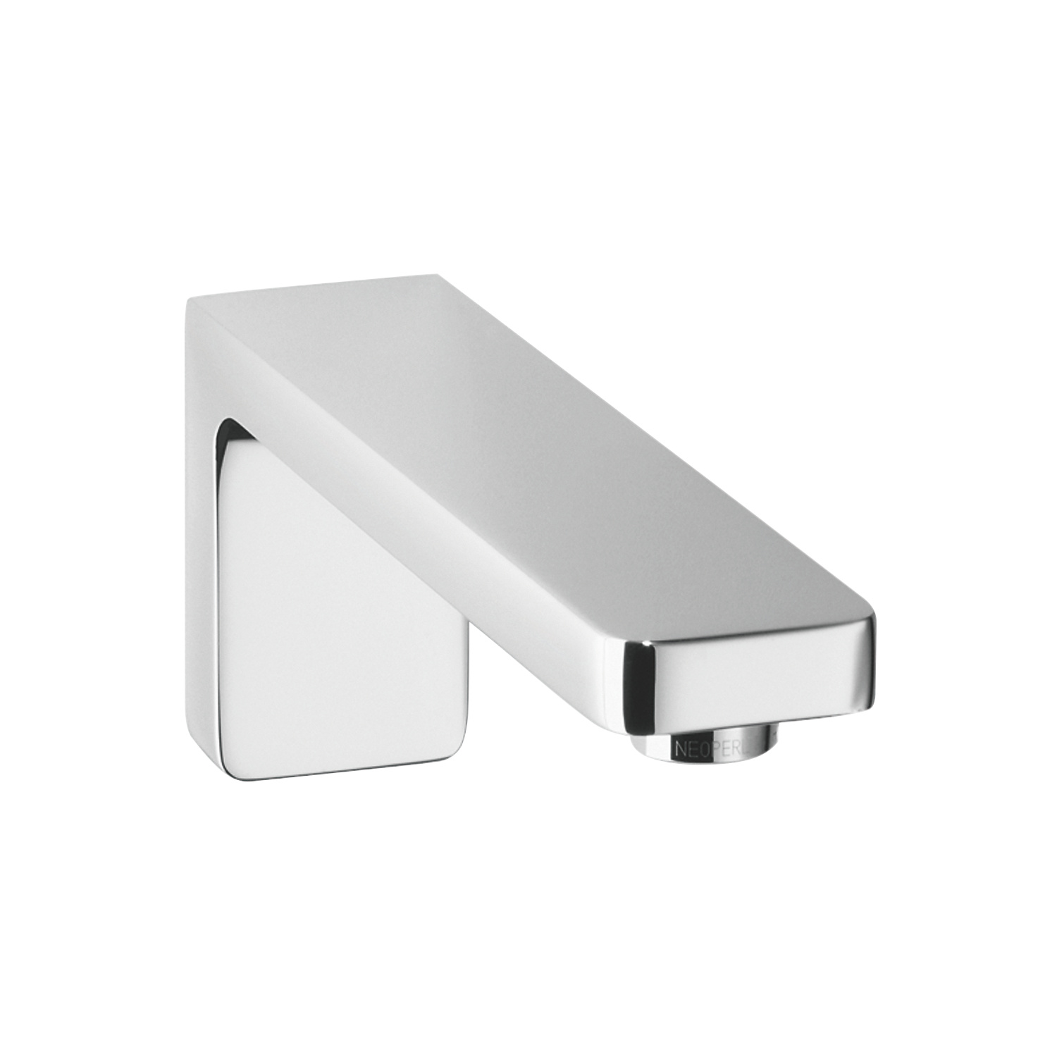 Wall-mounted basin spout without pop-up waste - polished chrome