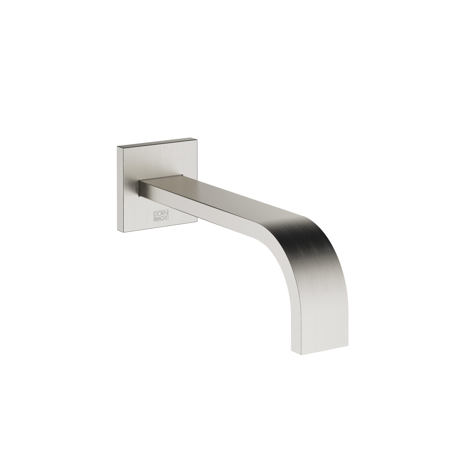 Wall-mounted basin spout without pop-up waste - platinum matt - 13 800 782-06