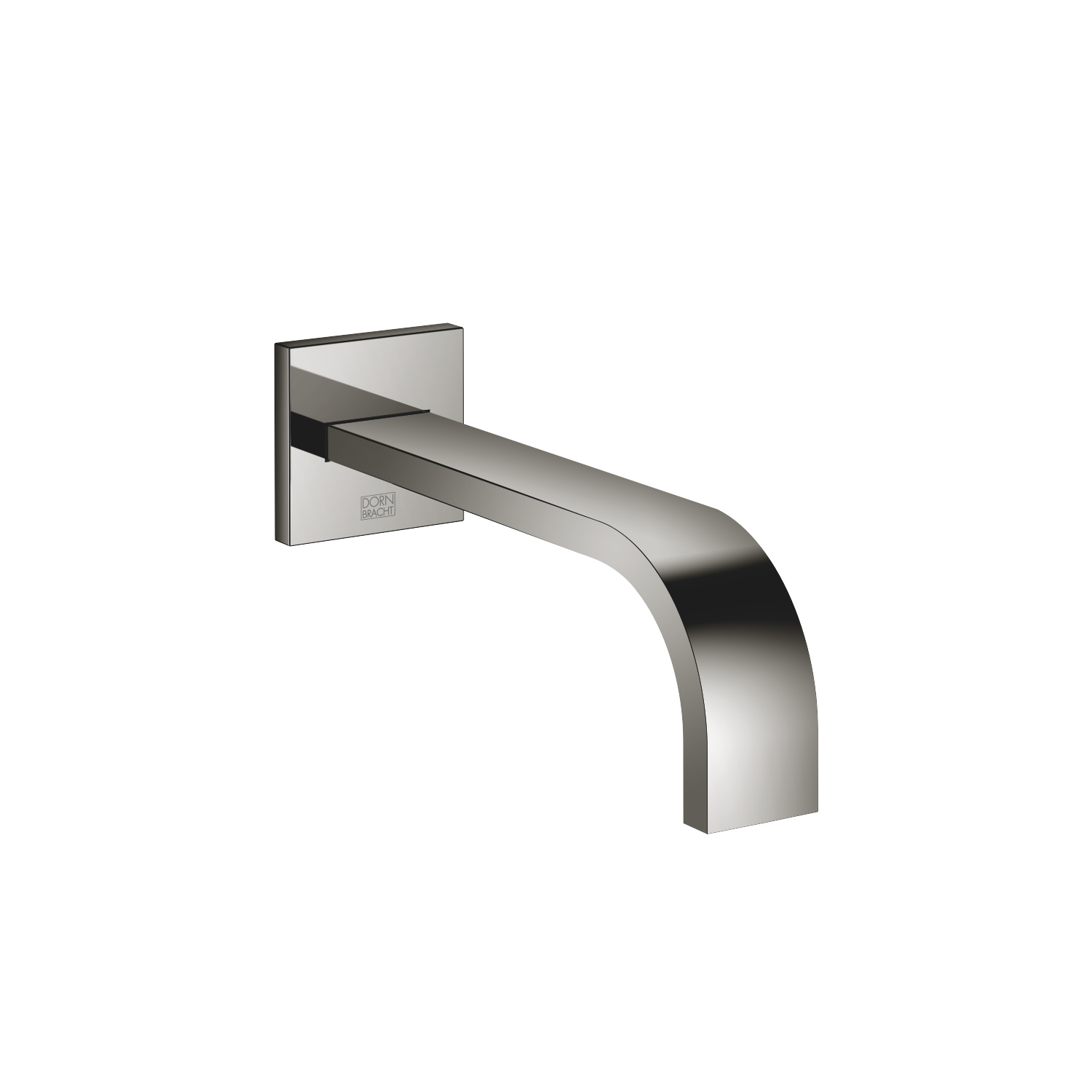 Wall-mounted basin spout without pop-up waste - platinum - 13 800 782-08