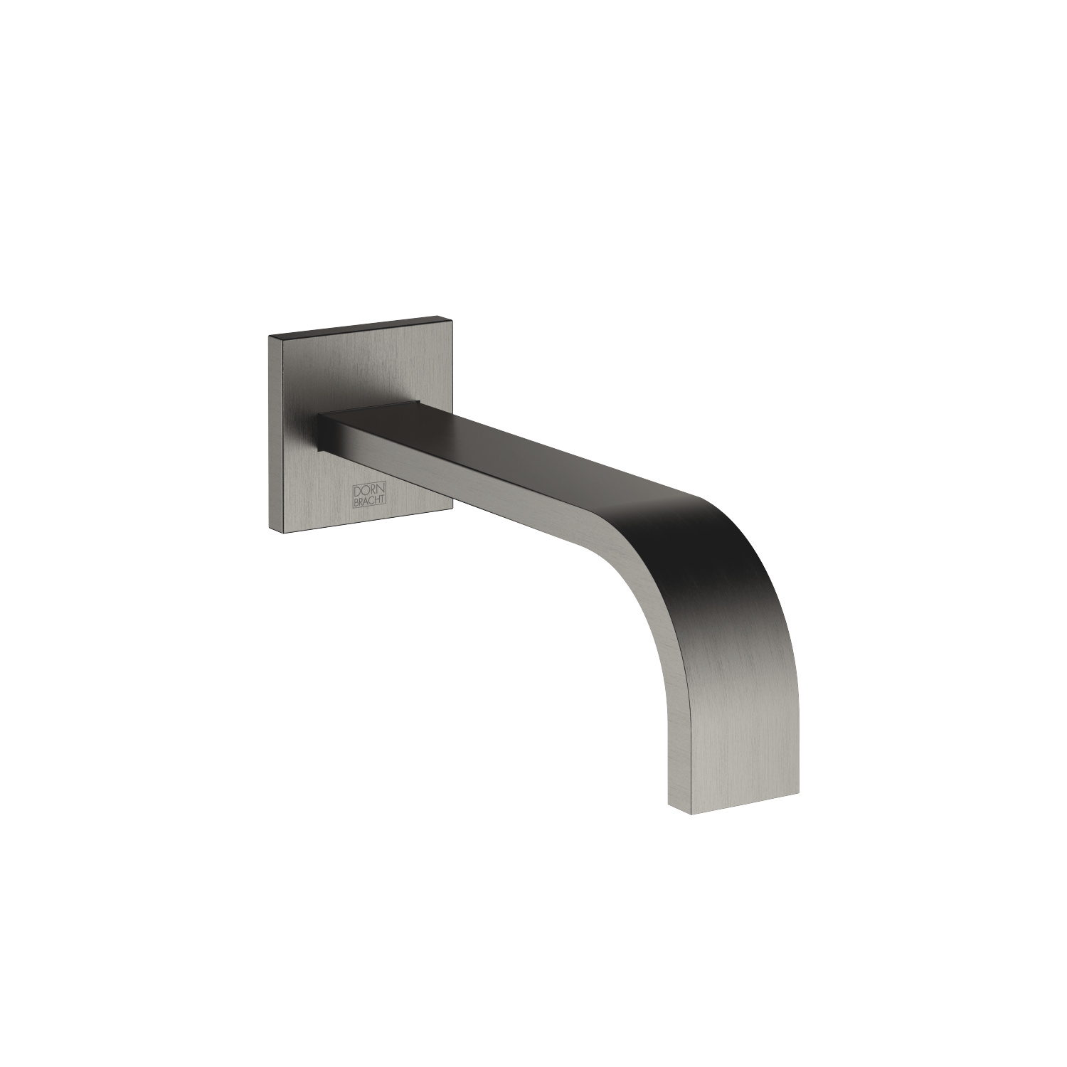 Wall-mounted basin spout without pop-up waste - Dark Platinum matt - 13 800 782-99
