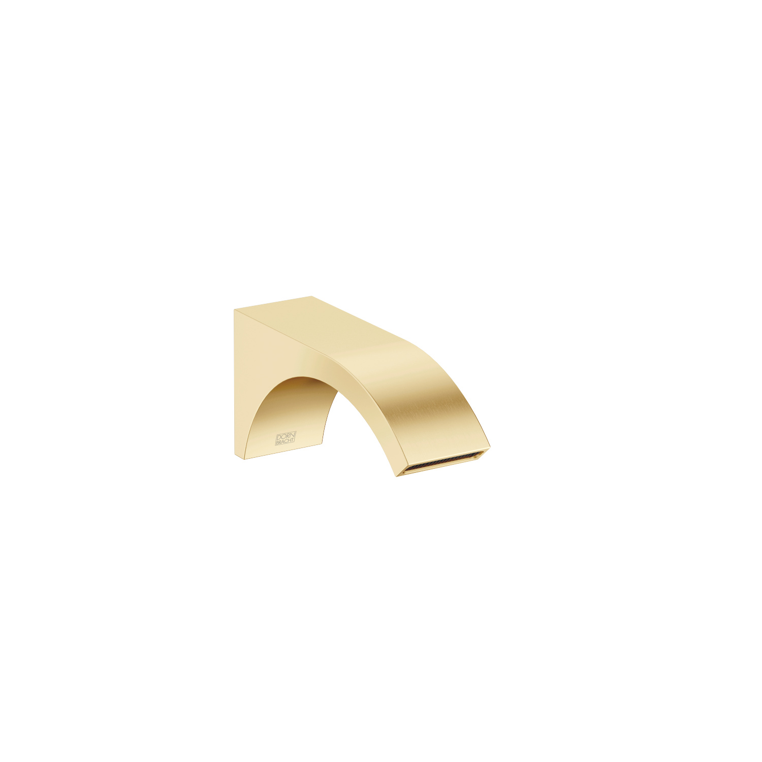 Wall-mounted basin spout without pop-up waste - brushed Durabrass