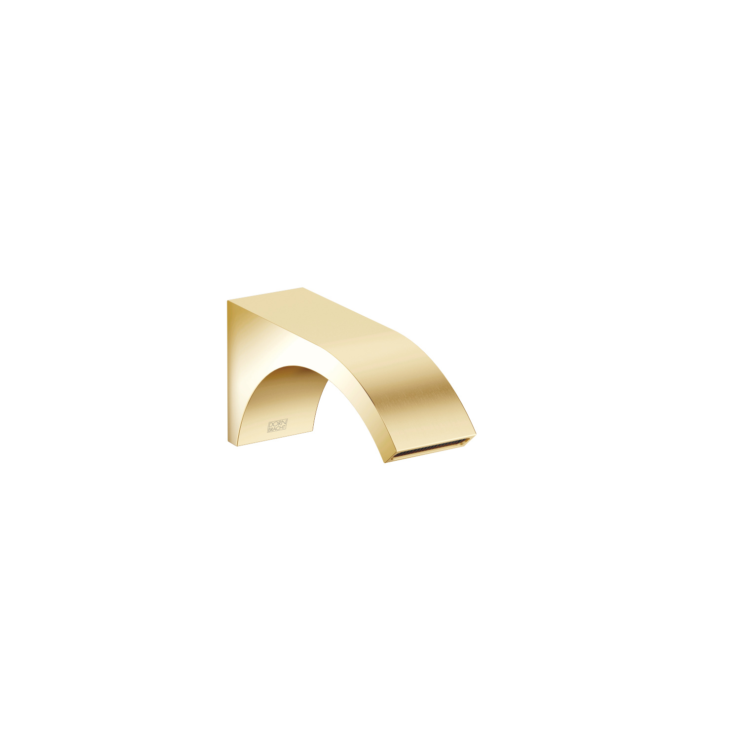 Wall-mounted basin spout without pop-up waste - Durabrass / brushed Durabrass