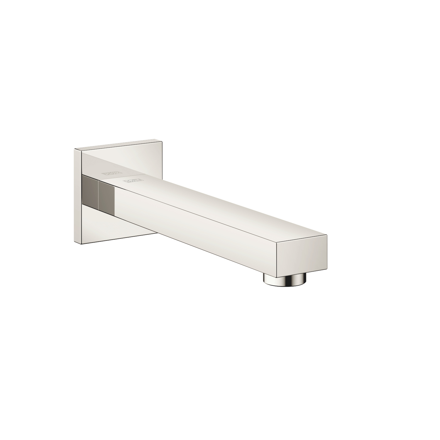 Wall-mounted basin spout without pop-up waste - platinum
