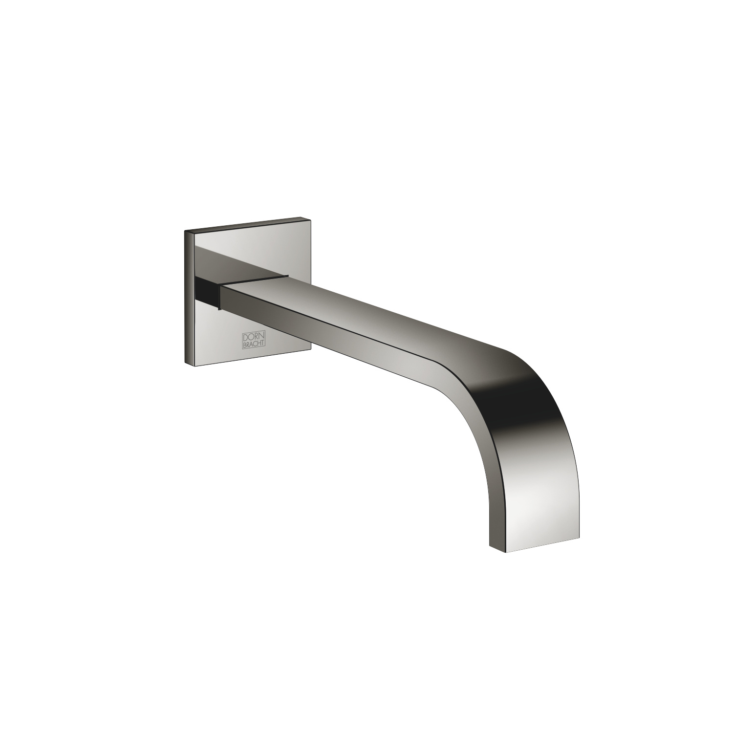 Tub spout for wall-mounted installation - platinum - 13 801 782-08