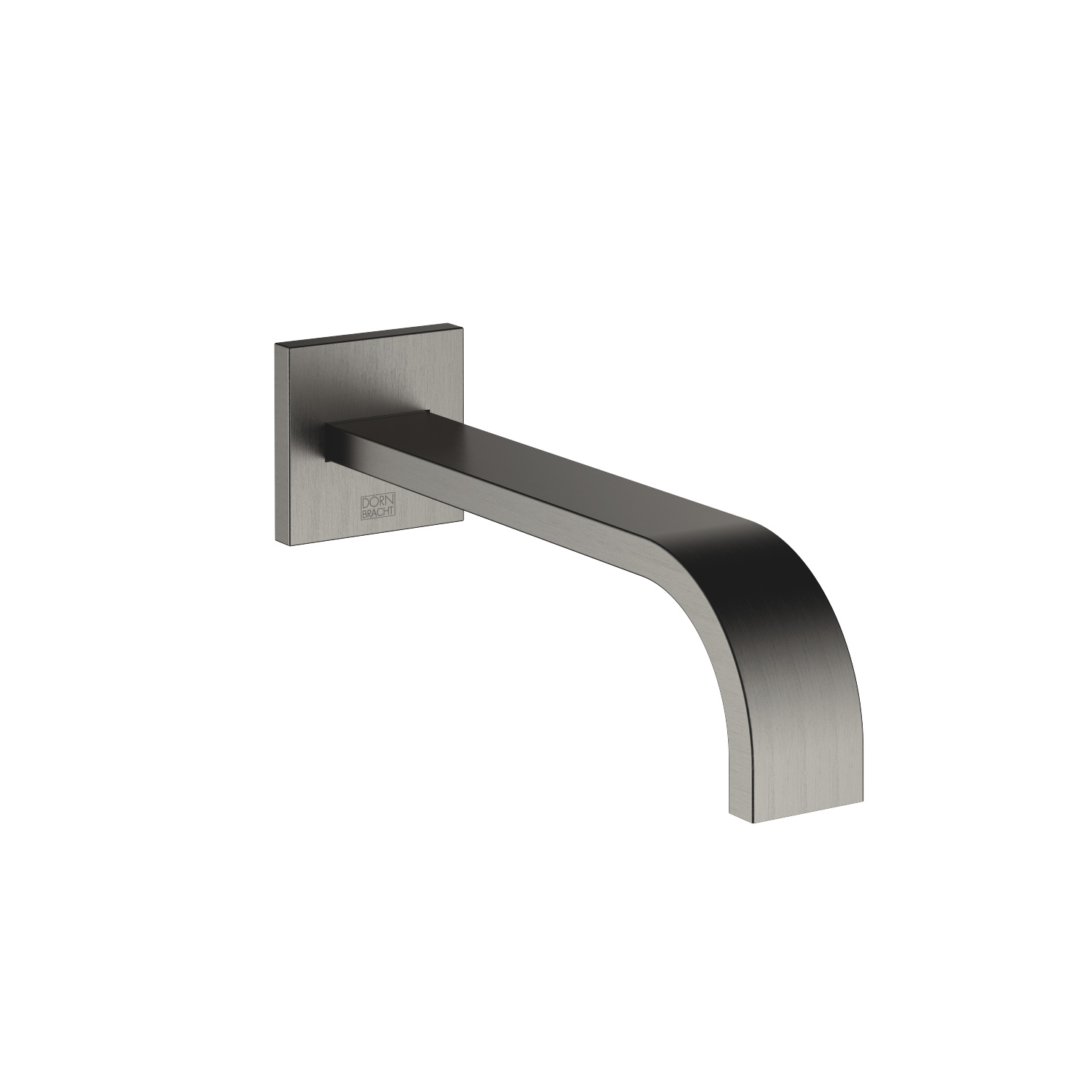 bath spout for wall mounting - Dark Platinum matt