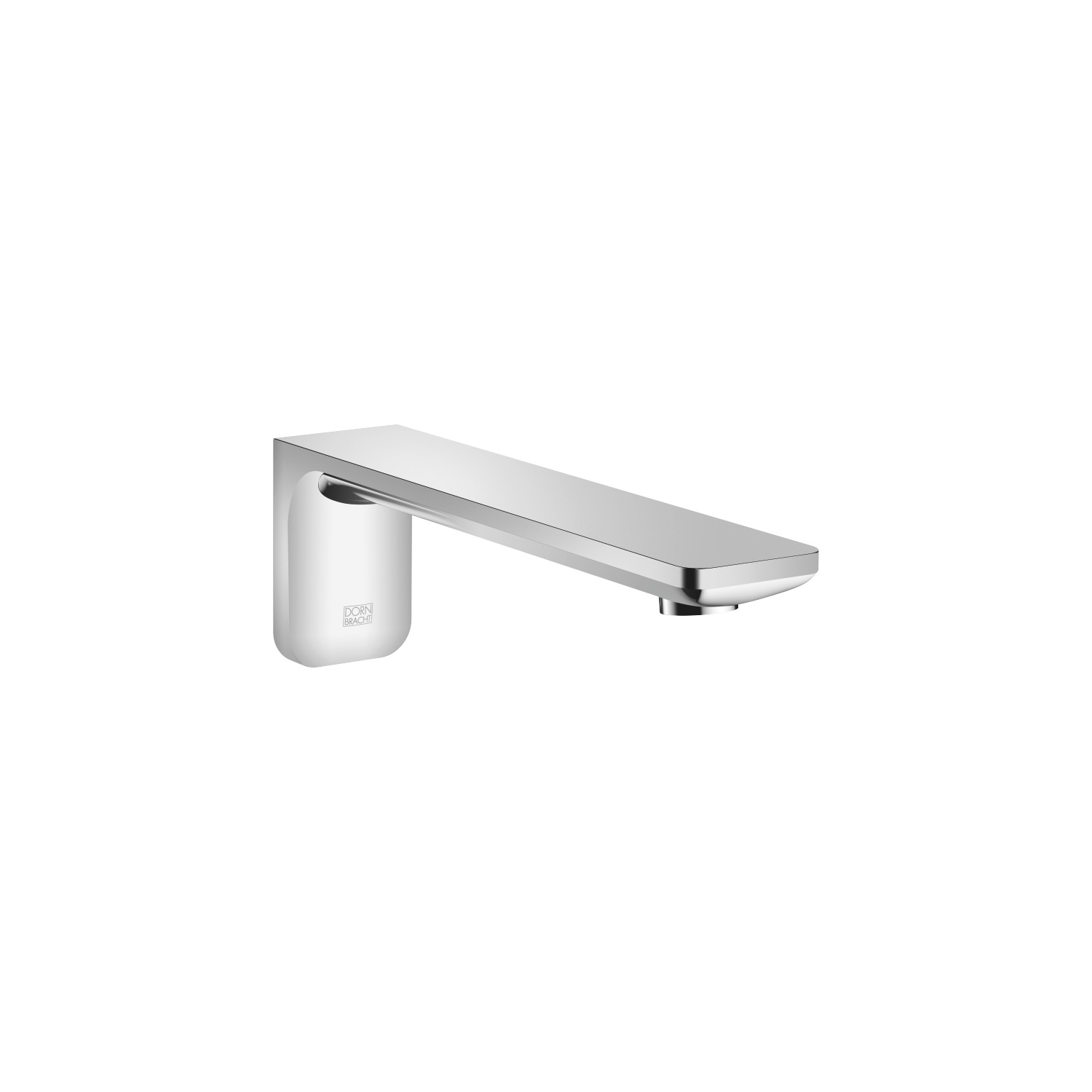 Tub spout for wall-mounted installation - polished chrome