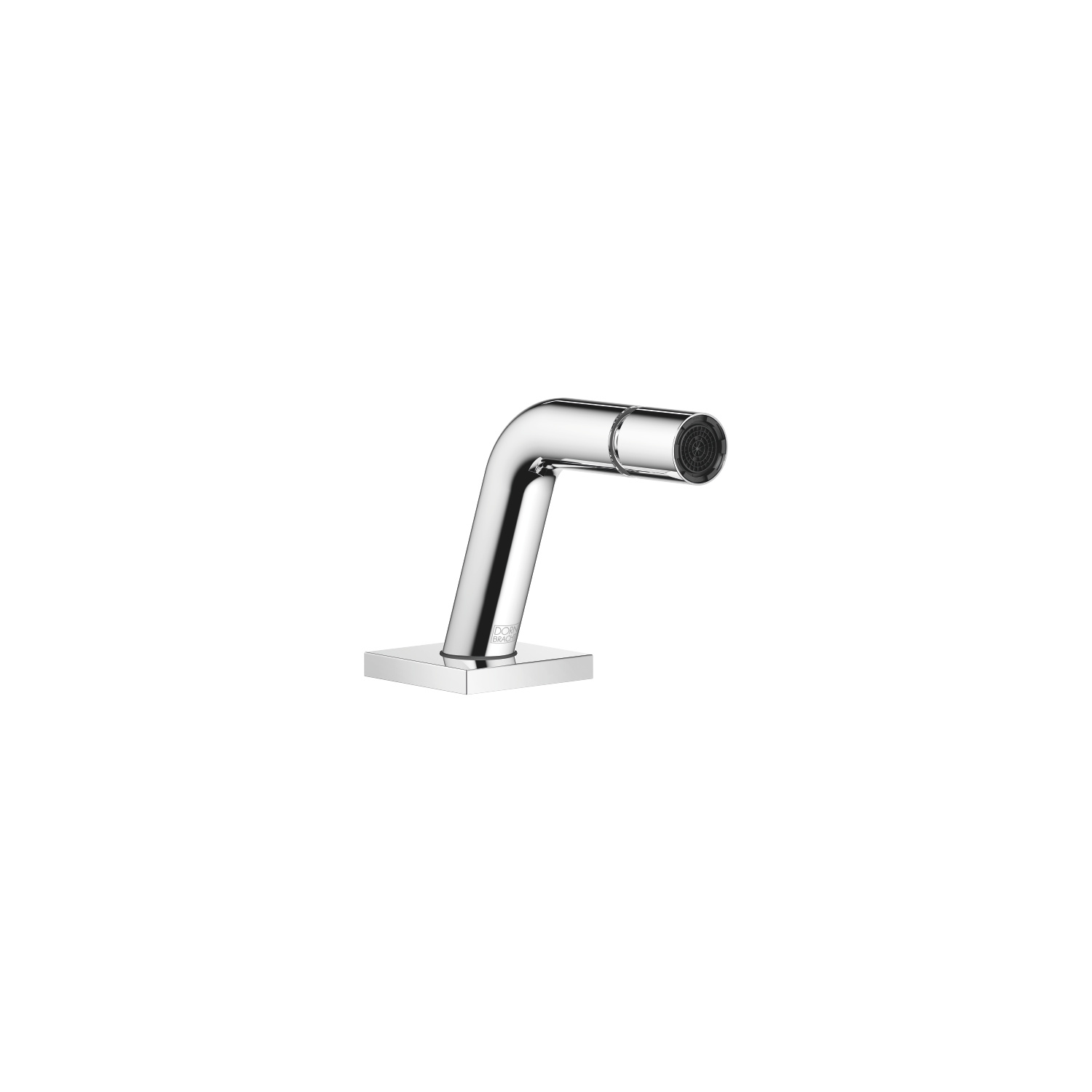 Deck-mounted bidet spout without pop-up waste - polished chrome