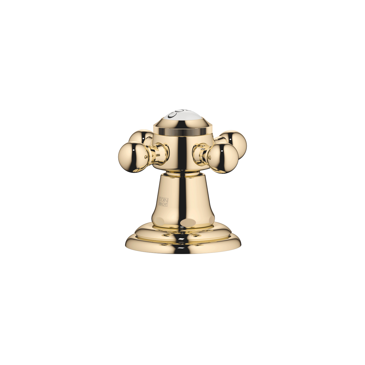 Deck valve clockwise-closing hot or cold - Durabrass