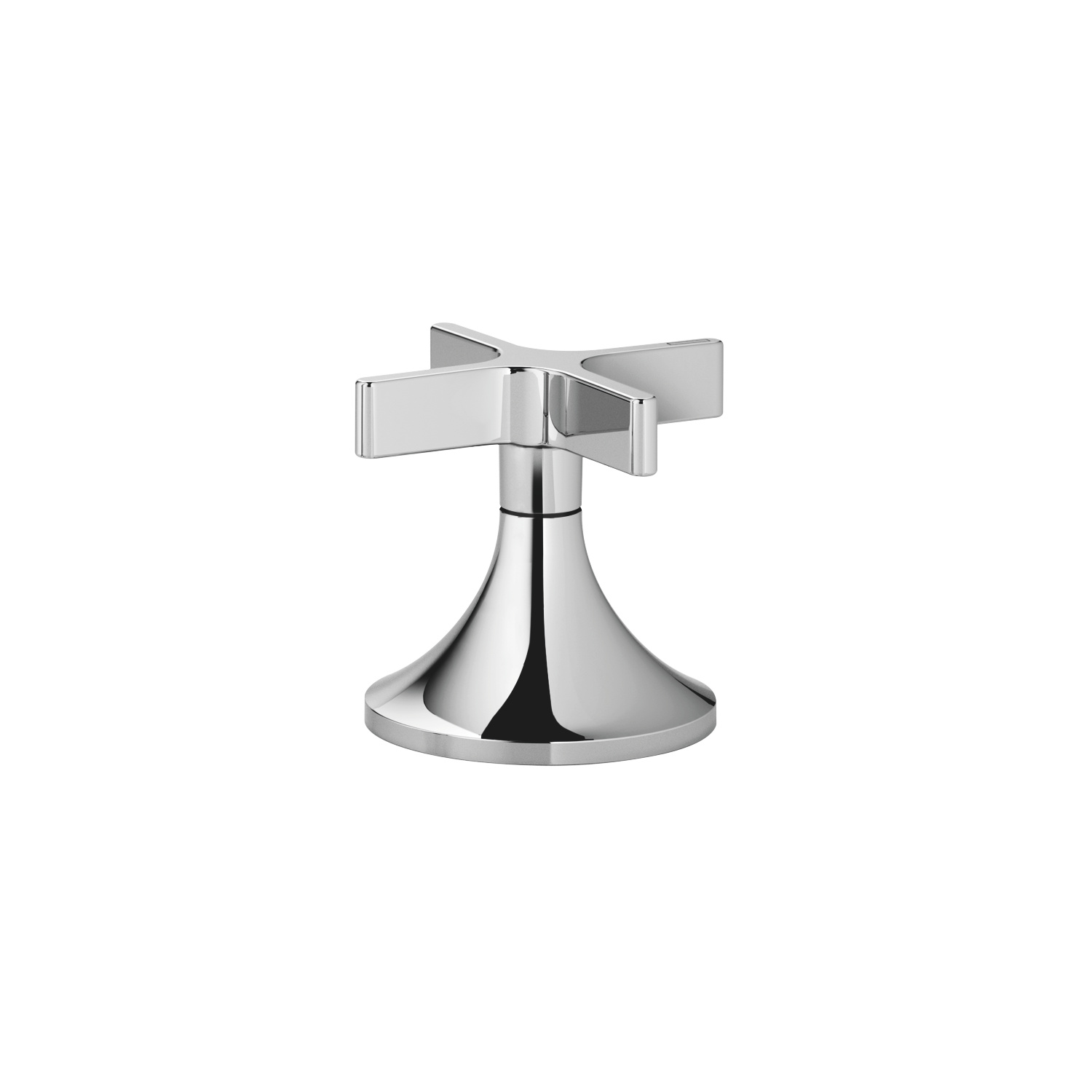 Deck valve clockwise closing cold - polished chrome
